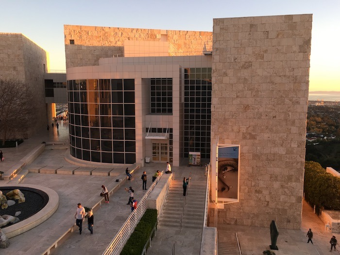 Getty Center Architecture Sunset