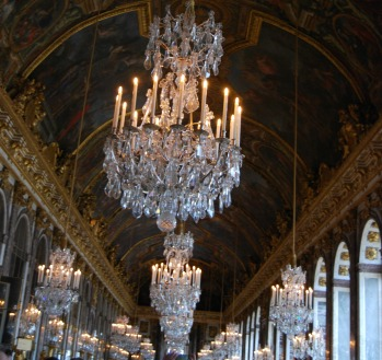 Hall of Mirrors--Palace of Versailles