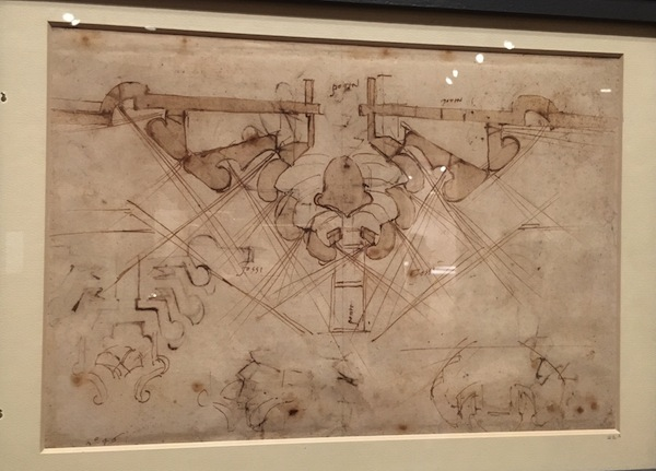 Military Fortifications Drawing Michelangelo