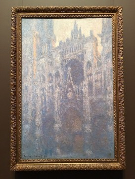 The Portrait of Rouen Cathedral in Morning Light by Claude Monet -- Getty Center