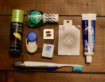 Carry-on toiletry essentials