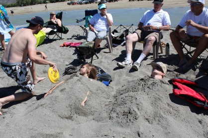Buried in Sand--Rendezvous Beach--Bear Lake