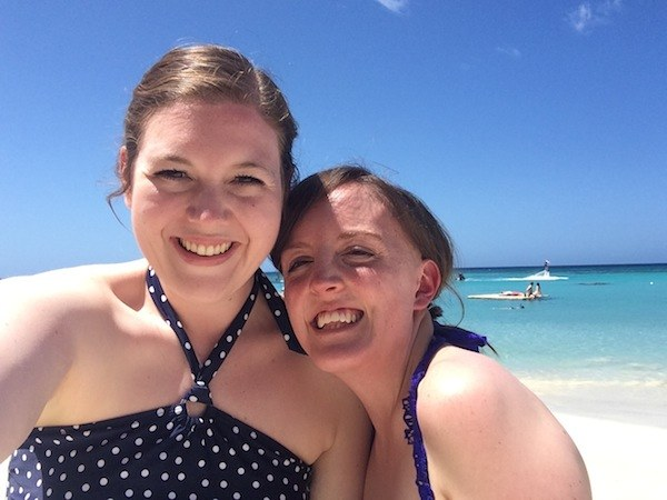 Beach Selfie at Roatan