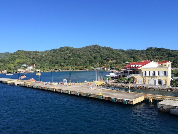 Port at Roatan Island