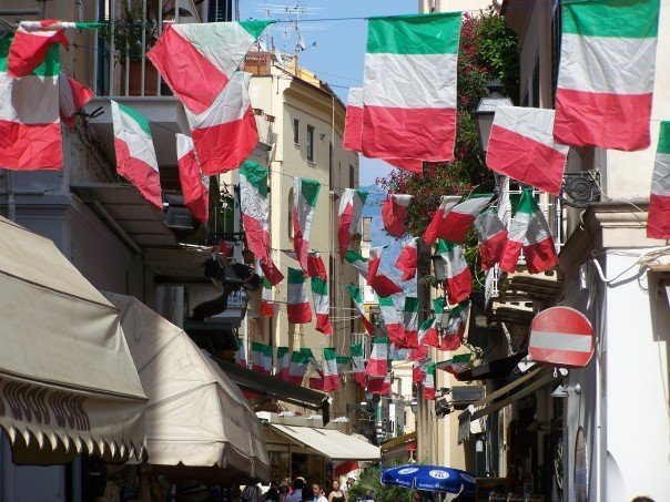 Sorrento, Italy flags