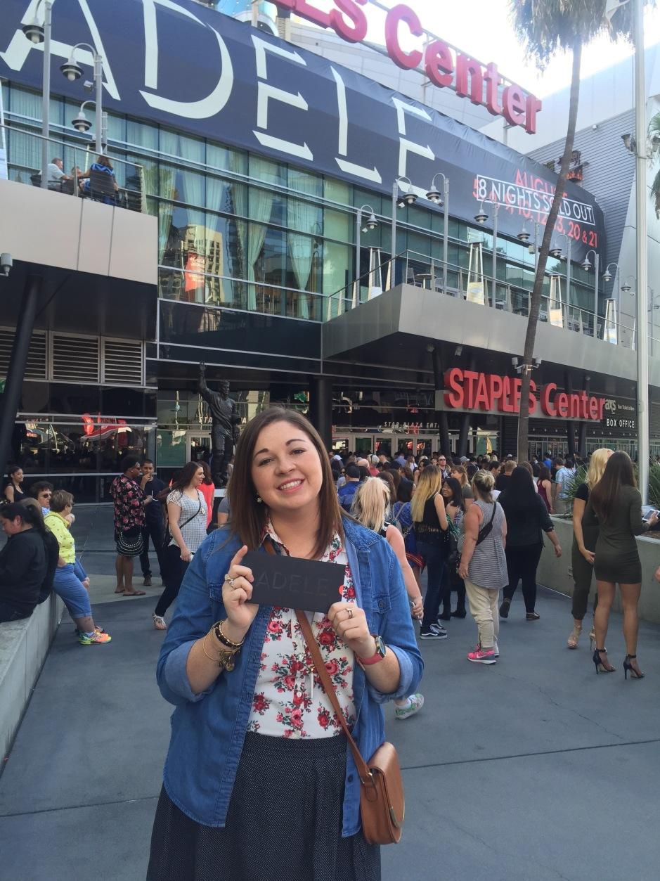 Adele Live--Staples Center--Los Angeles California