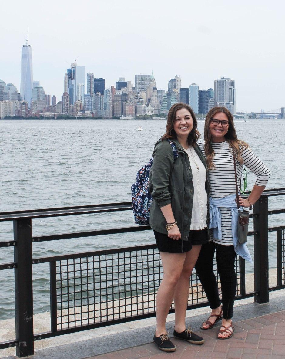 Liberty Island looking to Manhattan--New York City
